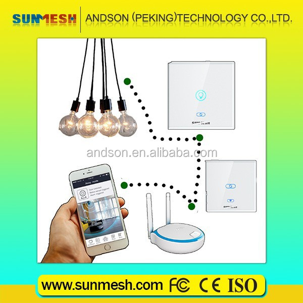 SUNMESH smart home automation system Zigbee smartphone remote control