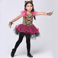 NEW 2016 baby girl Christmas dresses girl animal halloween costumes net yarn bowknot gloves kids performance