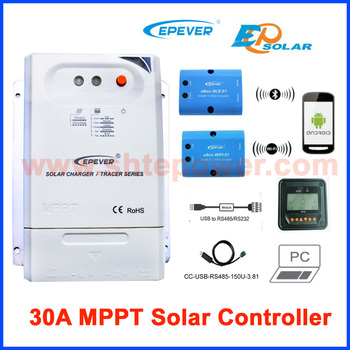 Tracer 3210cn 30a Mppt Solar Charge Controller 12v 24v Lcd Epever Regulator  Mt50 Wifi Bluetooth Pc Communication Mobile App - Buy 30a Solar