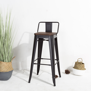 China factory wholesale vintage industrial high metal bar stool