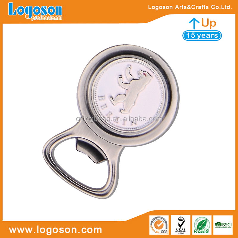 Made in China Portable Germany Berlin Memorial Souvenirs Metal Creative Bottle Opener Round Shape