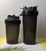 New Design BPA free 400ML 600ML plastic protein powder shakers plastic water bottle , sports water bottle with metal ball