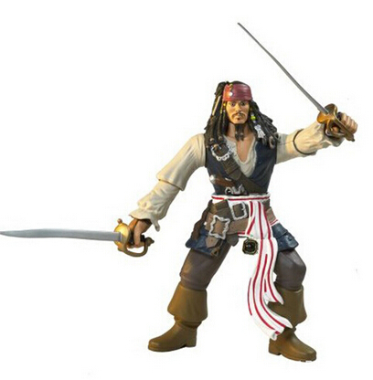 2014 NEW Pirates of the Caribbean character Captain Jack 7-inch model  For collection of home decoration