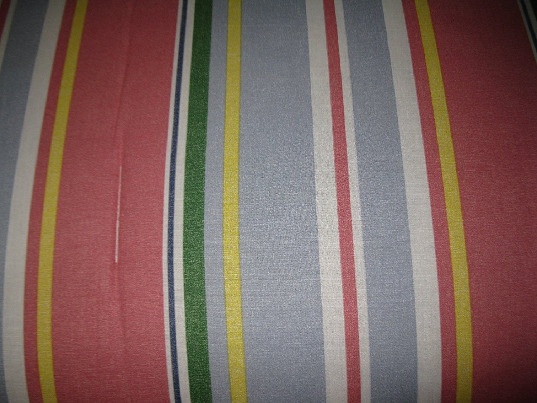 Tommy Hilfiger Princeton Stripe Comforter Set, Twin Blue Gray, Red, Yellow, Green, White