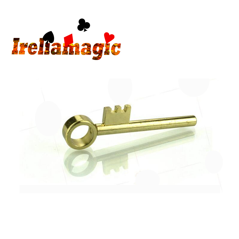 Golden Key move keys Ireliamagic tricks magic toys Make the teeth on a solid brass key