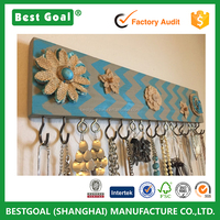 Jewelry organizer jewelry storage earring display necklace display wood wall mount jewelry display holder
