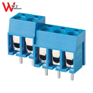 PCB 5.0mm pitch plastic 300-5.0 clamp screw terminal block connector with VDE passed WJ300-5.0
