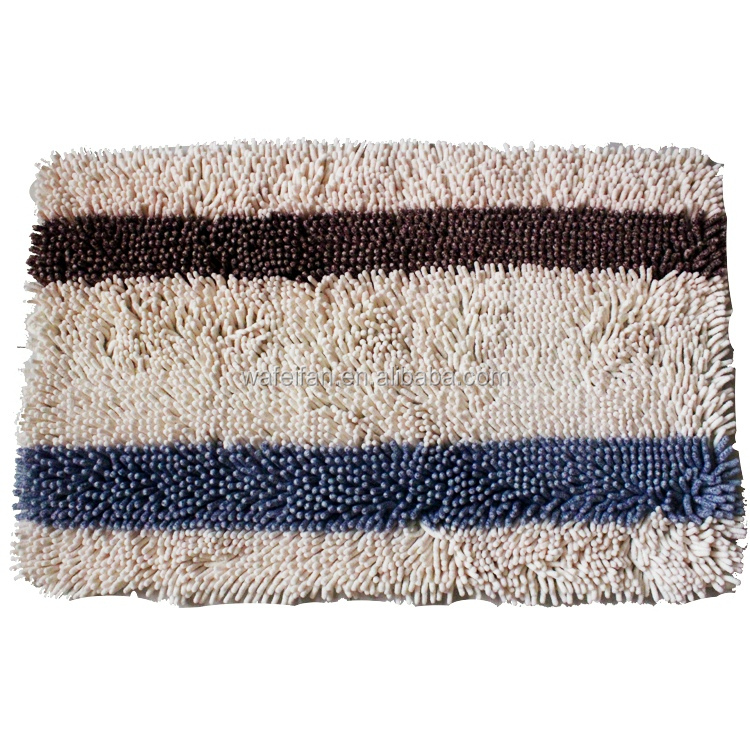 chenille microfiber bathroom brand colorful striped carpet