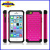Bling Dual Layer Rugged Hybrid High Impact Armor Combo Soft Rubber Hard Shell Case Cover for Apple iphone 5C