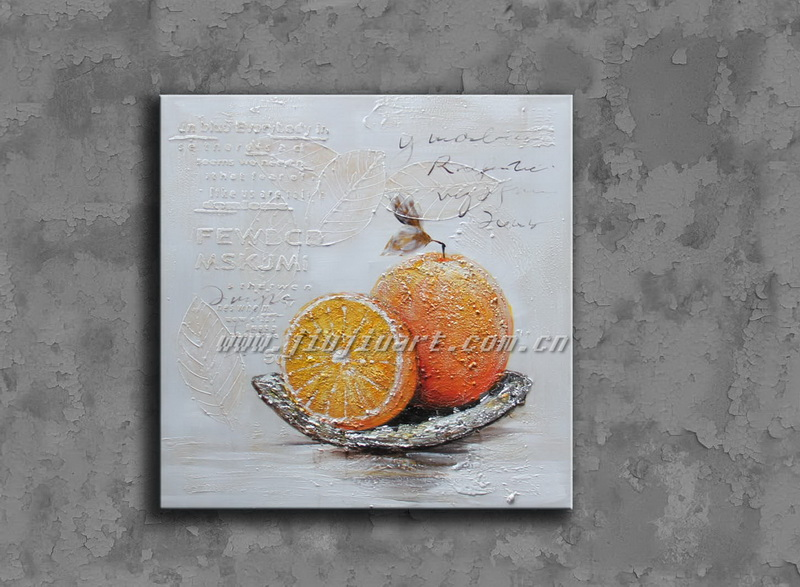 Handmade fruit oil painting for wall decoration