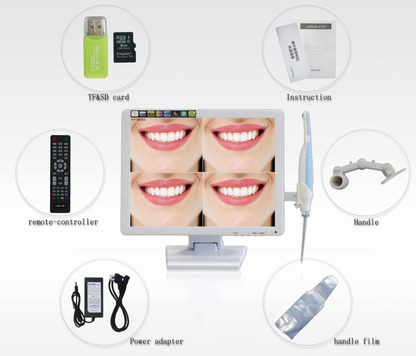 Dental oral camera intraoral camera with multifunctional memory