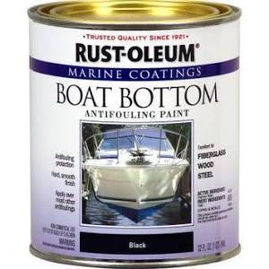 Rustoleum 207012 Qt Flat Black Boat Bottom Antifouling Marine Paint