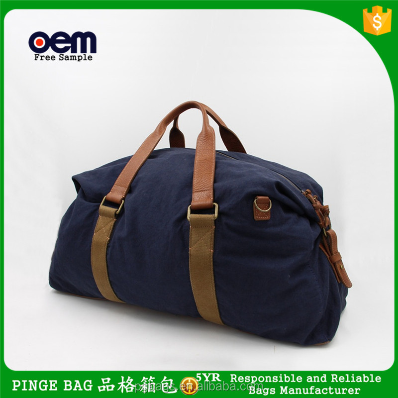 Yiwu Factory Polyester Customized Cheap Travel Luggage Duffle Bag For Men
