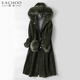 2018 Winter ladies real sheep double face leather fur long coat