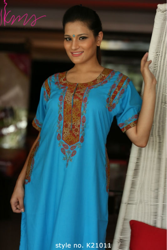 0cd07db6ad Full Length Cotton Embroidered Nighty  Nightgown - Buy Pure Cotton  Nightgown Product on Alibaba.com