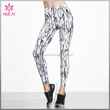New Custom Print Sports Wear High Wasit Women Fitness Long Gym Legging