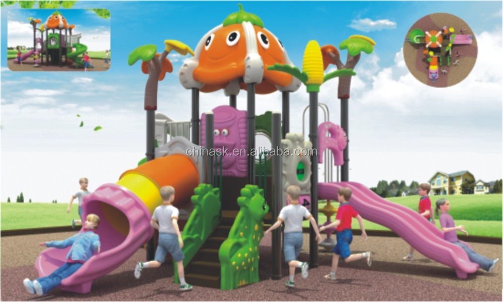 WH-4502 China Used Outdoor Residential Playground Equipment for Children with Double Slides Sports Activities