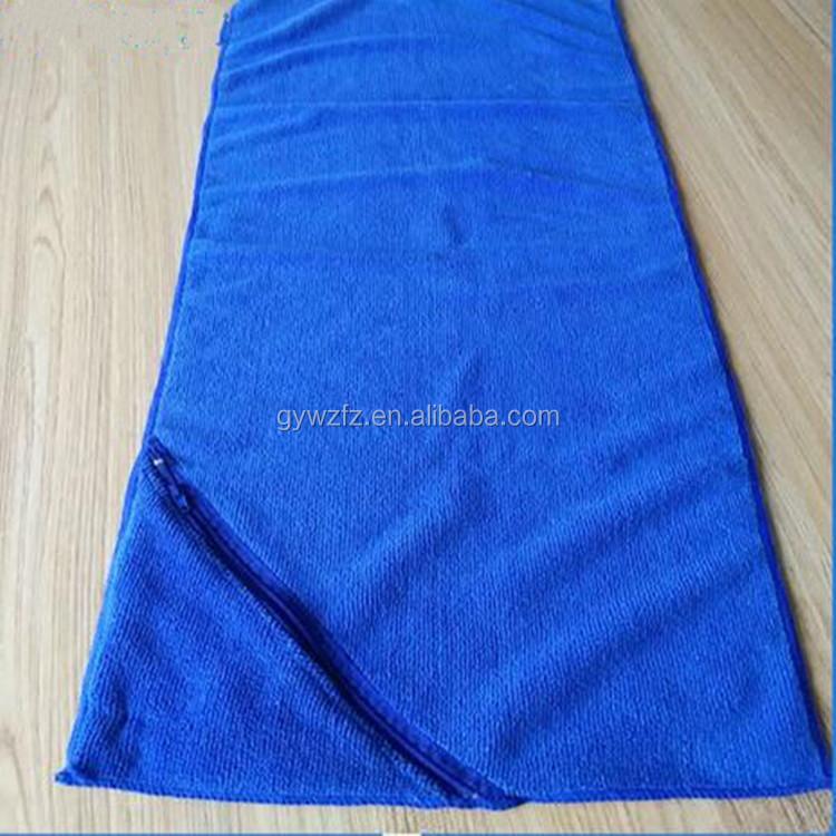 Custom Logo Workout Towels: Wholesale Custom Logo Gym Microfiber Towel With Zipper