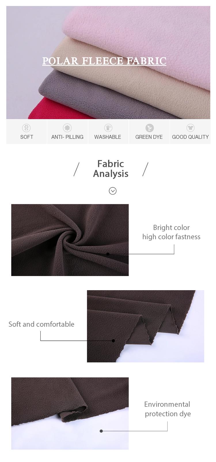 Kleding stoffen gratis monster textiel polar fleece stof 100% polyester turkije