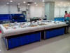 APEX custom make commercial supermarket restaurant stainless steel frozen sea urchin display table