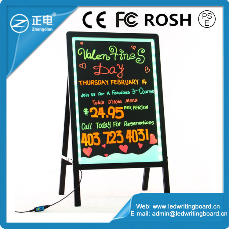 High Quality ZD Digital Display Board 90 Flashing Modes LED Sandwich Board Aluminum Alloy Frame LED AD Board