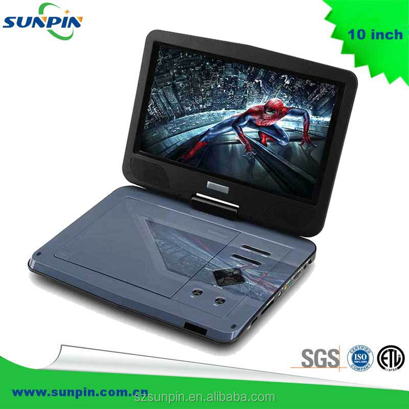 "10.1"" inch Portable DVD Player Swivel LCD Screen 180+90 degree dvd"