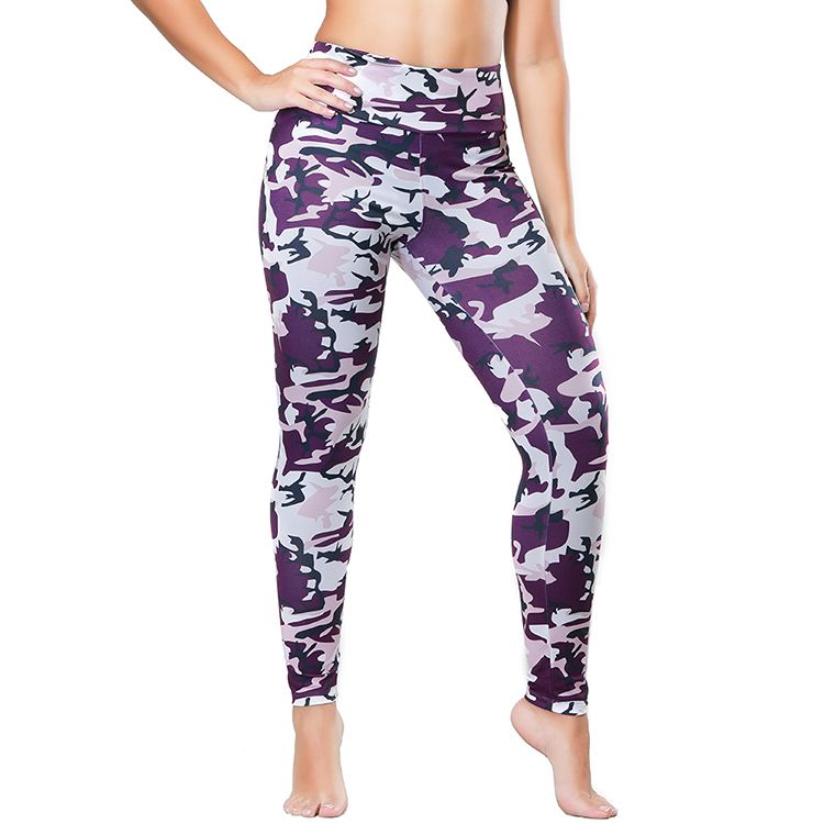 Curvy Printed Camouflage Double Brushed Super Soft Leggings