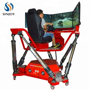 Hot Sale HD Screen 360 Degree 6 DOF Racing Car Motion Electric Platform Driving Simulator For Park/Game Center