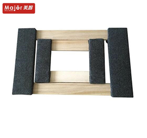 Anti-slip pads covered wooden dolly mover trolley