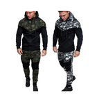 2019 Custom Men Jogging Suits Wholesale Pullover Hoodies and Sweat Pants Sports Tracksuit Set