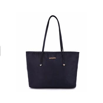 1HD0017 Large Capacity Black Plain Shoulder Bag Ladies Nylon Handbag Tote  Bag 4df31a98d4ea