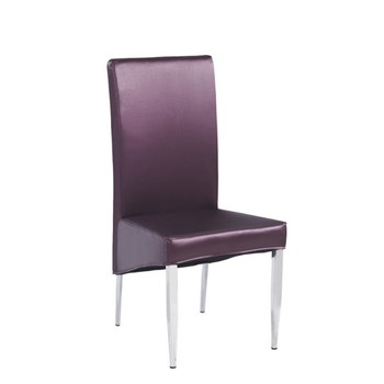 hot sale stainless steel frame leather model dining chair