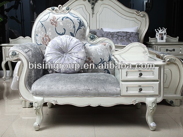 Vintage White Royal Chaise Lounge In French Style Bf11 1017b