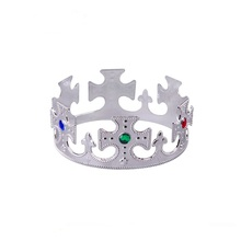 Commercio all'ingrosso Cosplay Costume di Plastica Oro e Argento Re <span class=keywords><strong>Royal</strong></span> <span class=keywords><strong>Crown</strong></span>
