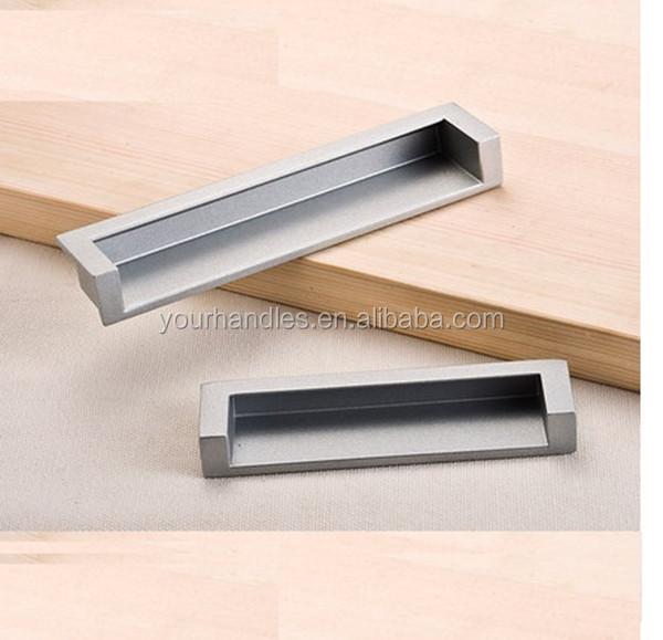 Furniture Concealed Cabinet Pulls,recessed Flush Handles , Concealed Flush  Pull Handle