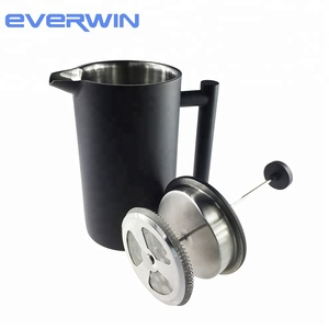 Luxury BLACK Vacuum Insulated Stainless Steel French Press Coffee Maker 1000ML