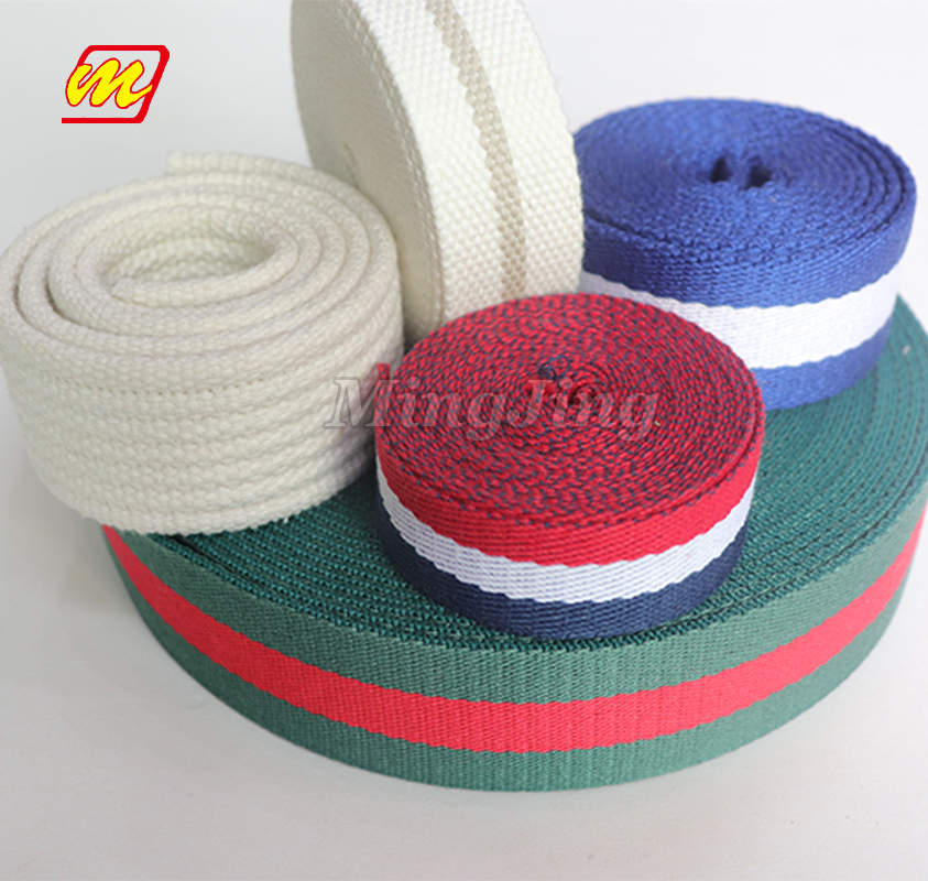 Factory Outlet Zware Geweven Custom Nylon Polyester Katoen Strap Webbing Fabriek In Guangdong