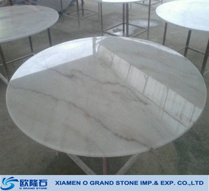 Italian carrara marble table top,round marble top dining table