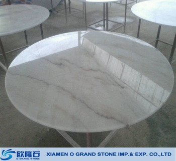 Italian Carrara Marble Table Top Round Dining