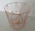 CQY 5006G Rose Golden Electroplated Metal Wire Trash can Waste Bin/Storage Basket