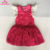 Fly Sleeve Baby Girls Tutu Romper Blank Red Lace Baby Romper Dress