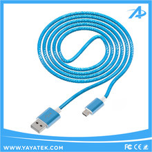 Bulk selling colorful nylon braided 2.4A fast charging usb cable for Android smartphones