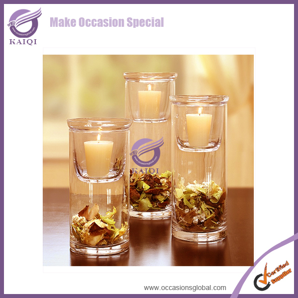 Wholesale Cheap Pastic Votive Glass Hurricane Floating Candles Holders Insert For Wedding Centerpieces