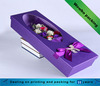 Elegant purple rectangle flowers packaging paper box with clear window
