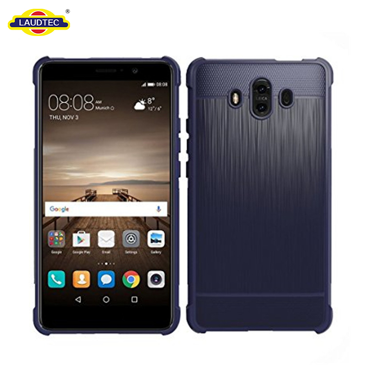 Shock Absorption Cover For Huawei Mate 10 Pro Carbon Fiber Back Case