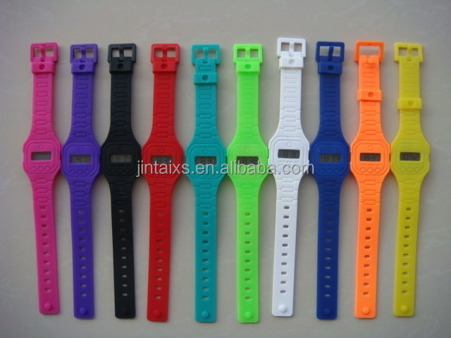 10 colors available silicone gift watch