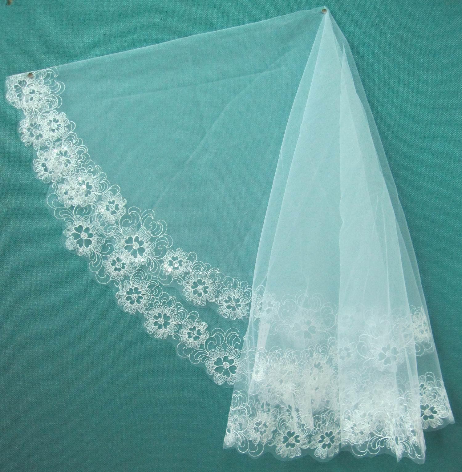1066925f3 مصنع الجملة اكسسوارات الزفاف مخصص زهرة مانتيا العروس كاتدرائية الزفاف الحجاب