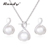 Latest Pearl Necklace & Earrings Sets Pearl 925 Silver Jewellery Sets