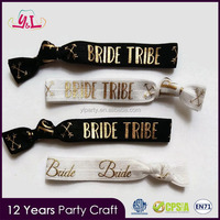 2017 New Premium Custom Hair Ties Bridal Shower Party Supplies For Party Hen