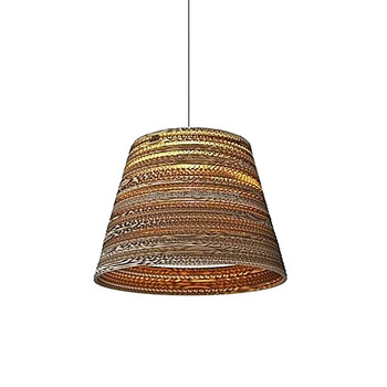 Decorative Lighting Restaurant Pendant Recycled Cardboard Cone Paper Hanging Light Modern